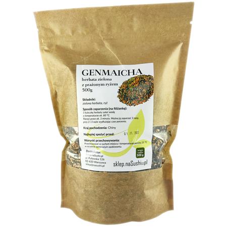 Herbata Genmaicha - zielona herbata z prażonym ryżem 500g