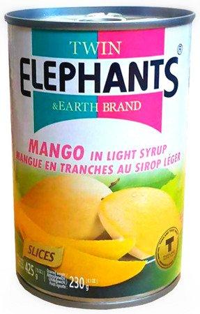 Mango, połówki w słodkim syropie 425g - Twin Elephants & Earth Brand