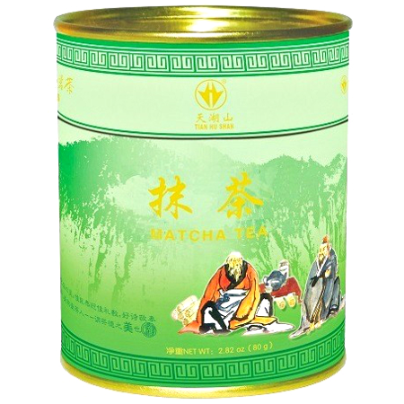 Matcha, sproszkowana zielona herbata w puszce 80g - Tian Hu Shan