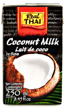 Mleko kokosowe (85% wyciągu z kokosa) w kartonie 250ml - Real Thai