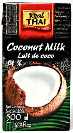Mleko kokosowe w kartonie (85% wyciągu z kokosa) 500ml - Real Thai