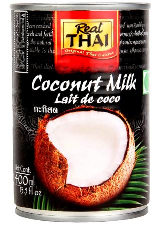 Mleko kokosowe w puszce (85% wyciągu z kokosa) 400ml - Real Thai