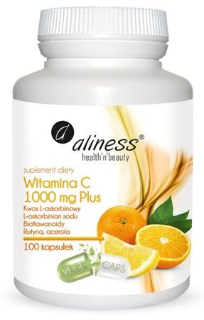 Witamina C 1000 mg PLUS z Rutyną i Acerolą - 100 kapsułek